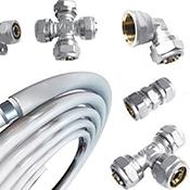 Трубы и фитинги для компрессионных металлопластиковых труб