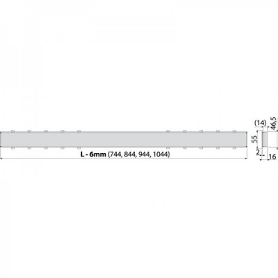 TILE-1050 Решетка под кладку плитки для APZ12 Optimal
