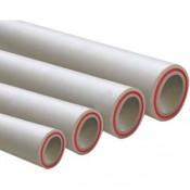 Труба (PPRC) Fiber Д=50 L=4,0 м, белая (1 метр)