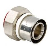Пресс-соединитель с накидной гайкой 16 x 1/2 евроконус (VTc.712.N.1604)