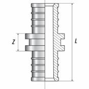 Муфта соединительная равнопроходная 20 (аксиальный) STOUT