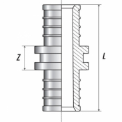Муфта соединительная равнопроходная 25 (аксиальный) STOUT