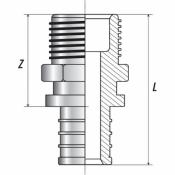 """Переходник с наружной резьбой 20xR 3/4"""" для труб из сшитого полиэтилена аксиальный"""