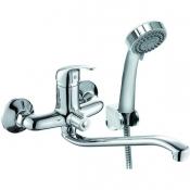 BSS1600 Смеситель KONNER BASIS для ванны с длинным изливом с аксессуарами