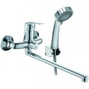 BLZ1600 Смеситель KONNER BLITZ для ванны с длинным изливом с аксессуарами
