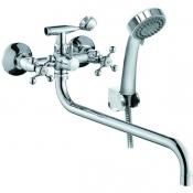 CLS2600 Смеситель KONNER CLASSIC для ванны с длинным изливом с аксессуарами