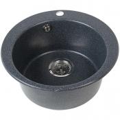 Кухонная мойка Иверия Кругл. 480 мм. Графит (аналог черн)