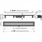 APZ10-650 Simple - Водоотводящий желоб с порогами для перфорированной решетки