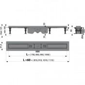 APZ12-950 Optima- Водоотводящий желоб с порогами для перфорированной решетки или решетки под кладку