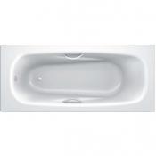 Ванна стальная UNIVERSAL ANATOMICA HG 170x75 белая 3,5 мм с отверстиями для ручек 208 мм