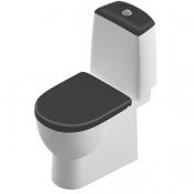 Компакт Best Luxe с сид. микролифт Sanita Luxe с черной крышкой