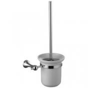 Ершик для унитаза с держателем (стакан-керамика) Lemark Standart, хром