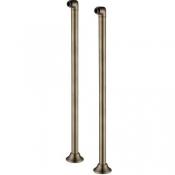 Комплект колонн 2 шт. для установки смесителя на пол ванны, бронза