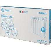 Радиатор алюминиевый STOUT Bravo 500/80