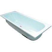 """Ванна стальная 1,7x0,7x0,4 (ВИЗ) Донна Ванна антибактер. """"Летний небесный"""" (светло-голубая)"""