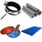 Изоляционные и крепежные материалы для труб и пола