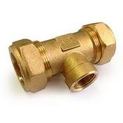 """GofraFlex тройник """"труба-труба-внутренняя резьб"""" 20 x 20мм x 1/2"""""""