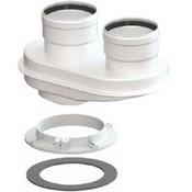 VIVAT Адаптер моноблочный d 80/80 мм (Bosch, Baxi TR, Protherm TR и др. фланцевые)