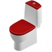 Компакт Best Luxe с сид. микролифт Sanita Luxe с красной крышкой