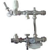 """Насосно-смесительный узел для систем отопления  из нержавеющей стали 1"""", 130мм без насоса"""