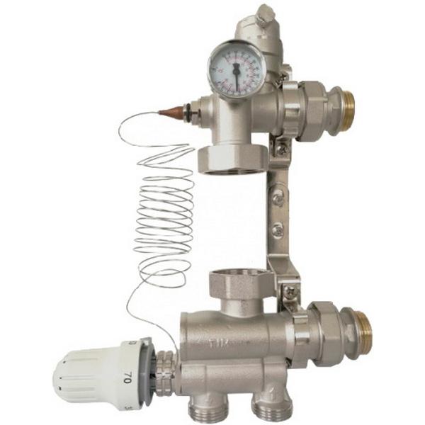 """Насосно-смесительный узел для систем отопления 1 1/2"""" , 130мм/180мм"""
